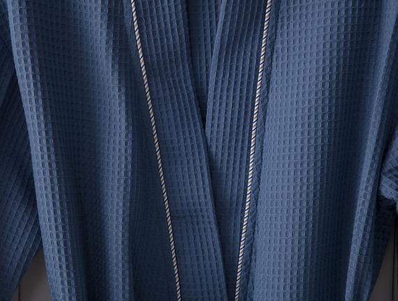 Leeroy Erkek Kimono Pike Bornoz - Indigo