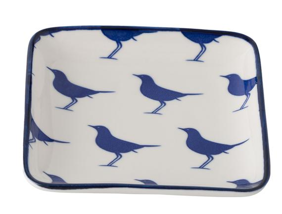 Rêve Bleu Oiseau Kare Tabak