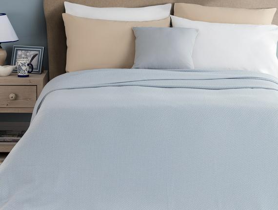 Mercredi Çift Kişilik Yatak Örtüsü - Mavi
