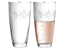 Quinn 6'lı Bohemia Kristali Meşrubat Bardağı Takımı - Platin