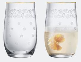 Lucinda 6'lı Bohemia Kristali Meşrubat Bardağı Takımı - Gold