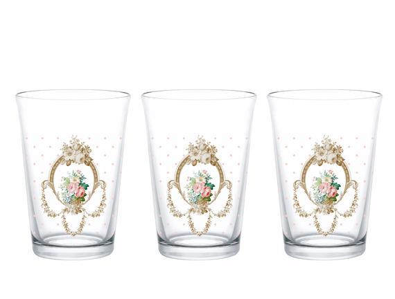Rosa 3'lü Su Bardağı Seti