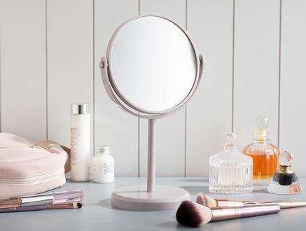 Nera Çift Taraflı Masa Aynası - Açık Mürdüm