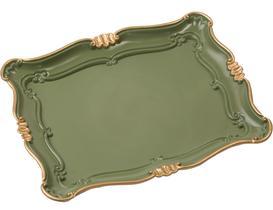 Camelote Varaklı Büyük Tepsi - Koyu Yeşil
