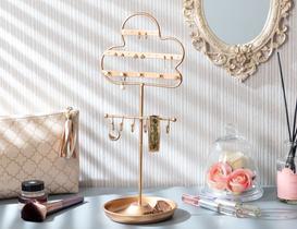 Fleur Dekoratif Takı Standı - Gold
