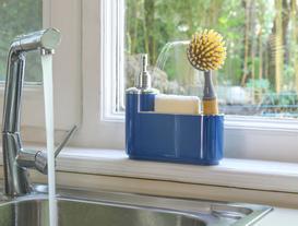 Promoty Süngerlikli Platin Sıvı Sabunluk - Lacivert