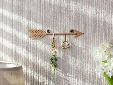 Flèche 2'li Dekoratif Takı Askısı - Gold