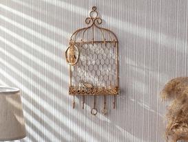 Cabine Dekoratif Takı Standı - Gold