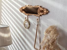 Versaille 2'li Dekoratif Takı Askısı - Kahverengi