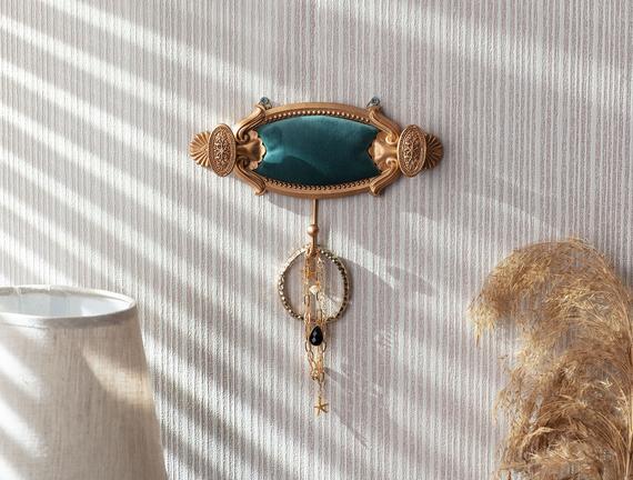Versaille Tekli Dekoratif Takı Askısı - Turkuaz