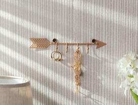 Flèche 4'lü Dekoratif Takı Askısı - Gold