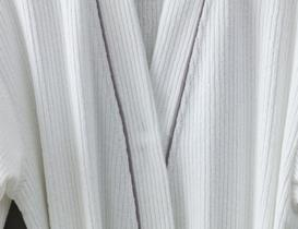 Piano Kimono Unisex Bornoz - Beyaz