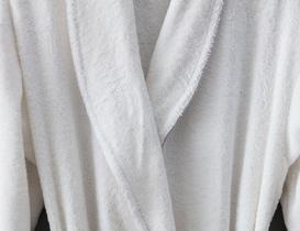 Celestiel Şalyaka Unisex Bornoz - Beyaz