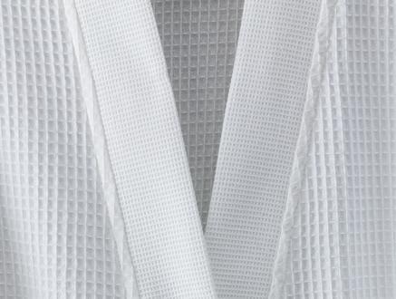 Thieny Kimono Unisex Pike Bornoz - Beyaz