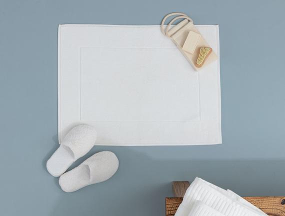 Stripe Armürlü Ayak Havlusu - Beyaz - 50x70 cm