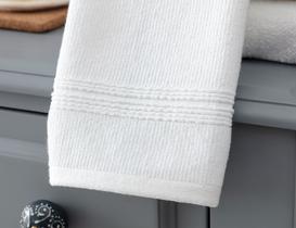 Stripe Armürlü El Havlusu - Beyaz