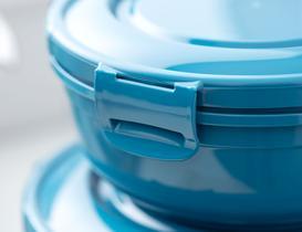 Yuvarlak Saklama Kabı 2'li - Teal Blue
