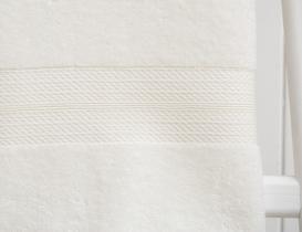 Roxane Düz Banyo Havlusu - Ekru