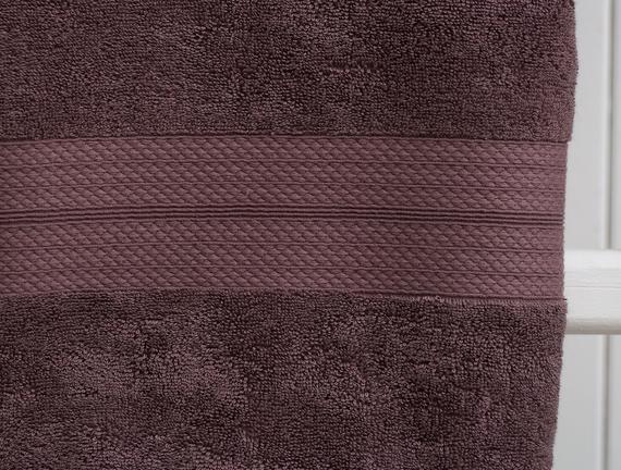 Roxane Banyo Havlusu - Mürdüm - 70x140 cm