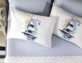 Sailor Çift Kişilik Ranforce Çarşaf Takımı 160X240+50X70 cm