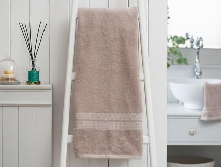 Roxane Düz Banyo Havlusu - Vizon