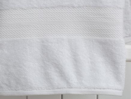 Roxane Düz Banyo Havlusu - Beyaz