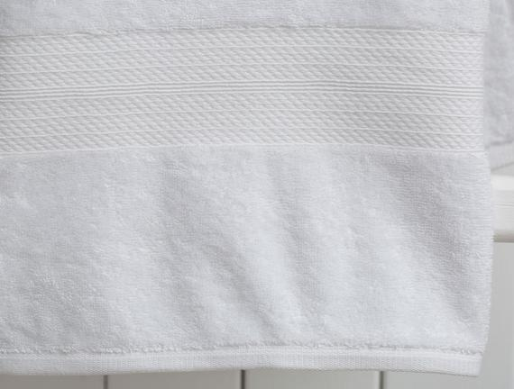 Roxane Banyo Havlusu - Beyaz - 70x140 cm