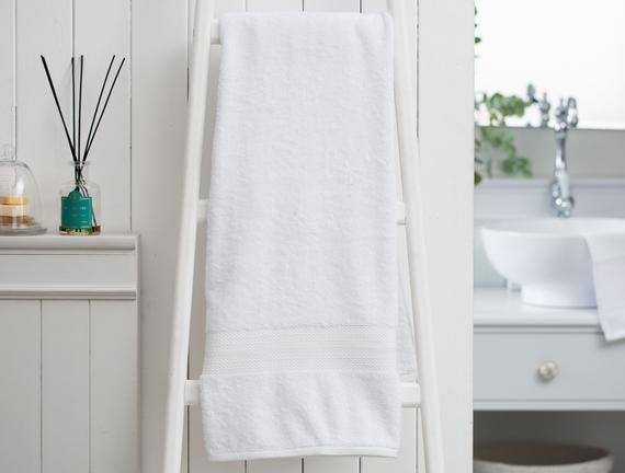 Roxane Banyo Havlusu - Beyaz - 90x150 cm
