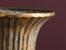 Obeline Metal Vazo - Bronz