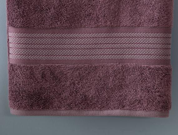 Abrial Banyo Havlusu - Koyu Mürdüm - 90x150 cm