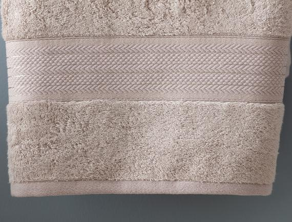 Abrial Banyo Havlusu - Taş - 90x150 cm
