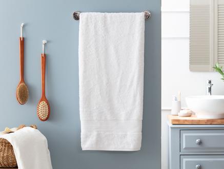 Abrial Banyo Havlusu - Beyaz - 90x150 cm
