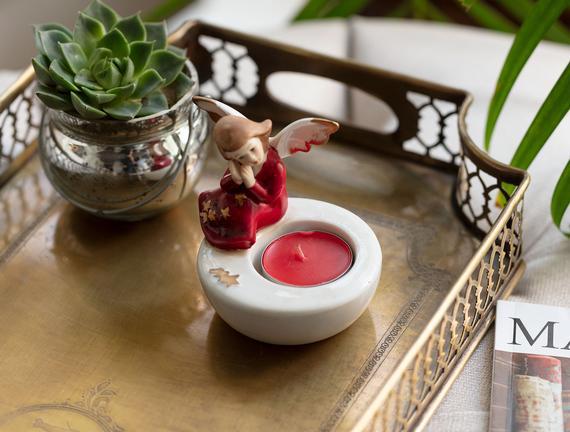 Cadeaux Porselen Biblo - Kırmızı