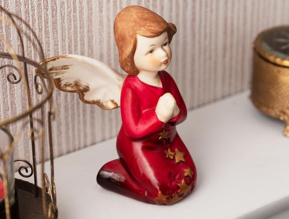 Tendresse Porselen Biblo - Kırmızı