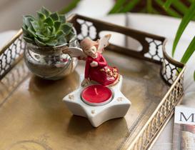 Heureux Porselen Biblo - Kırmızı