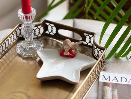 Rallonge Porselen Biblo - Kırmızı