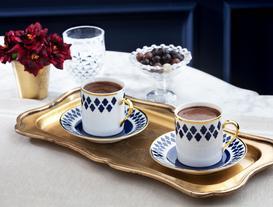 Bernelle Kahve Fincan Takımı 4'lü - Mavi