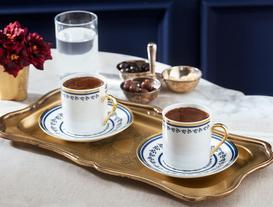 Fanetta Kahve Fincan Takımı 4'lü - Mavi