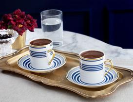 Fadette Kahve Fincan Takımı 4'lü - Mavi