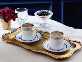 Coretta Kahve Fincan Takımı 4'lü - Mavi
