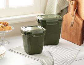 Kare Saklama Kabı 2'li - Koyu Yeşil