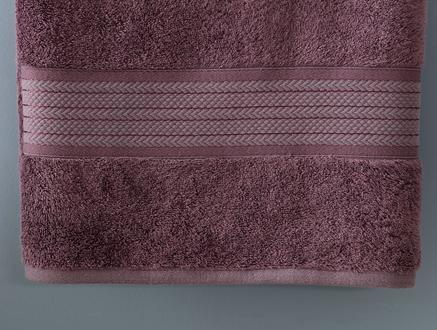 Abrial Banyo Havlusu - Koyu Mürdüm - 70x140 cm