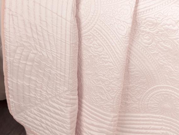 Lucien Starlight Tek Kişilik Yatak Örtüsü - Soft Pudra