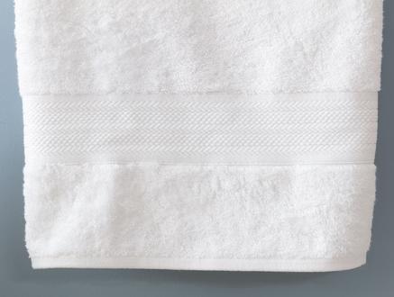 Abrial Banyo Havlusu - Beyaz - 70x140 cm