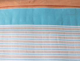 Chambre Tek Kişilik Baskılı Pike - Mavi / Turuncu