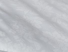 Vintage Jakarlı Biyeli Tek Kişilik Yorgan - Beyaz