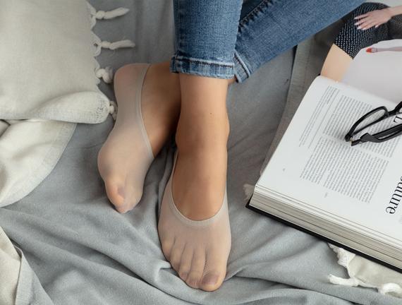 Suba Kadın Babet Çorap - Ekru