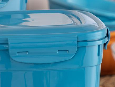 Kare Saklama Kabı 2'li - Teal Blue