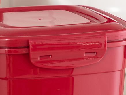 Kare Saklama Kabı 2'li - Carmen Kırmızı