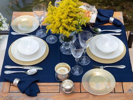 Leafy 16 Parça Yemek Takımı - Gold